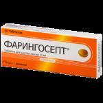 Сосательные таблетки Фарингосепт
