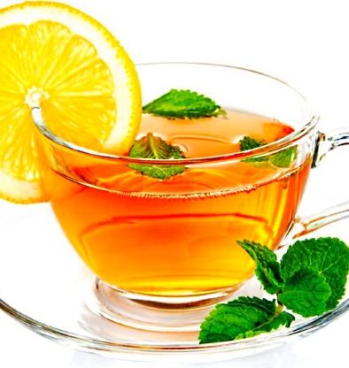 Чай с лимоном и мятой