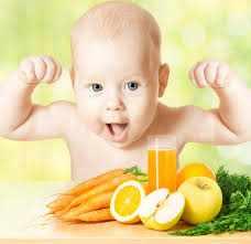 Ребенок и полезные продукты